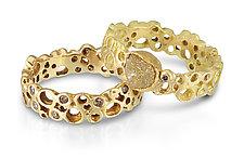 Diamond Scribble by Shauna Burke (Gold & Stone Ring)