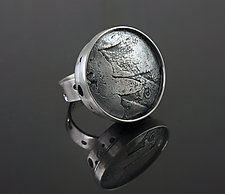 Moonscape Orb Modernist Ring by Jan Van Diver (Silver Ring)