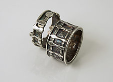 Plaid Ring by Jan Van Diver (Silver Ring)