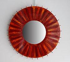 Fire by Gerald Davidson (Art Glass Mirror)
