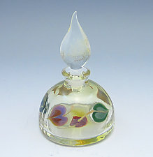 Leaves Perfume Bottle by Chris Pantos (Art Glass Perfume Bottle)