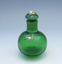 Emerald Bottle by Chris Pantos (Art Glass Perfume Bottle)