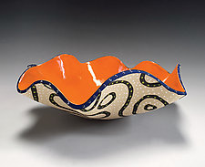 Blackline Flair Bowl by Vaughan Nelson (Ceramic Bowl)