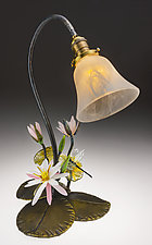 Waterlily Lamp by Loy Allen (Art Glass Table Lamp)