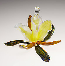 Orchid Perfume Bottle by Loy Allen (Art Glass Perfume Bottle)