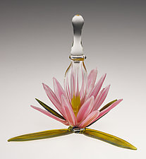 Waterlily Perfume Bottle by Loy Allen (Art Glass Perfume Bottle)