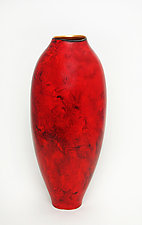 Red Vase by Cheryl Williams (Ceramic Vase)
