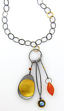 Fuego Necklace by Sydney Lynch (Silver & Stone Necklace)