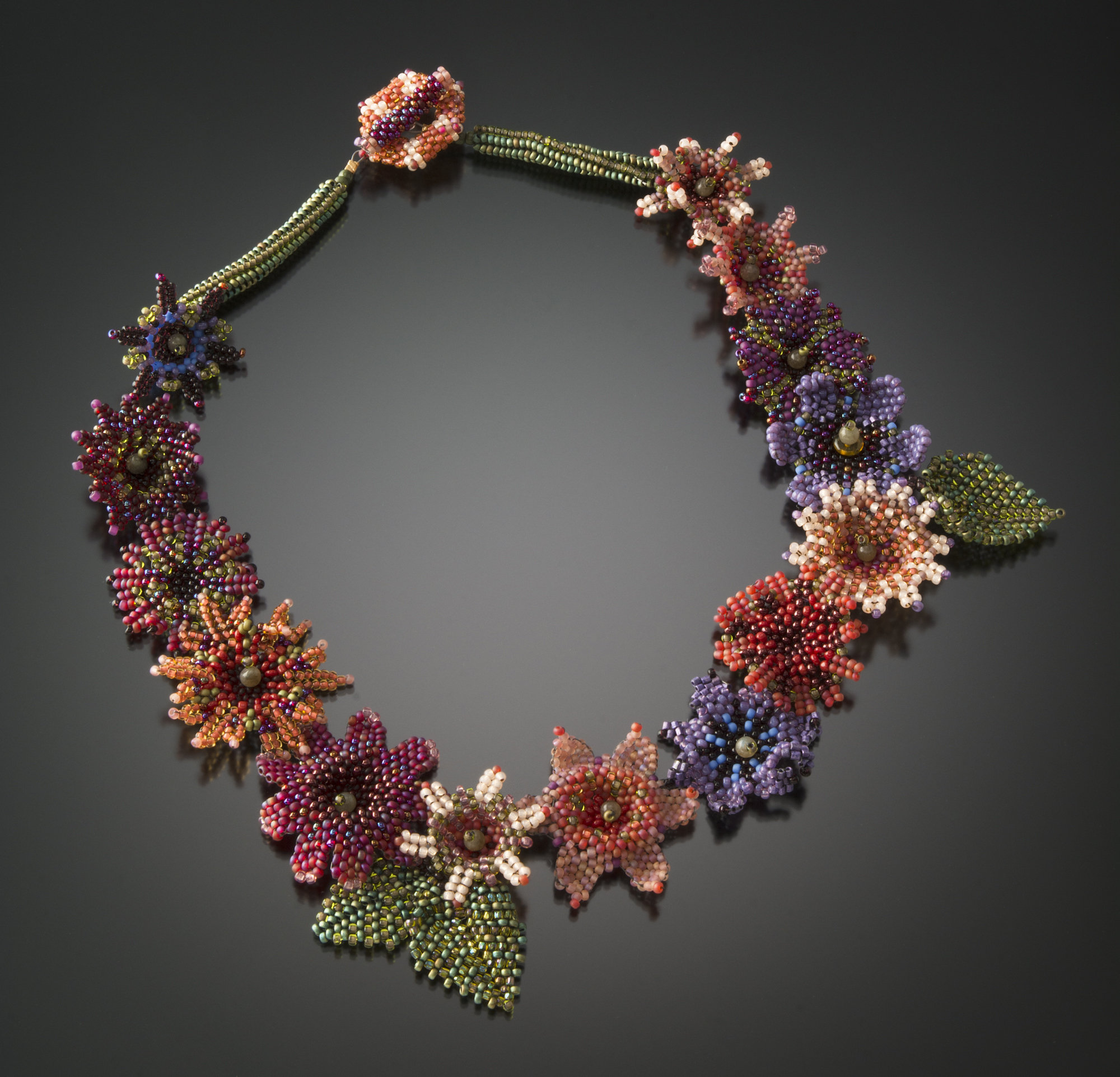 Floral Garland Necklace By Julie Powell Beaded Necklace