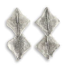 Double Diamond Earrings by John Siever (Silver Earrings)