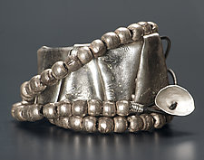 Wrap-Around Cord with Beads Bracelet by John Siever (Silver Bracelet)