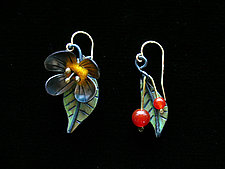 Cherry Blossom Earrings by Lisa and Scott  Cylinder (Metal Earrings)