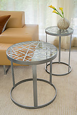 Contrails Tables by Ken Girardini and Julie Girardini (Metal Side Table)