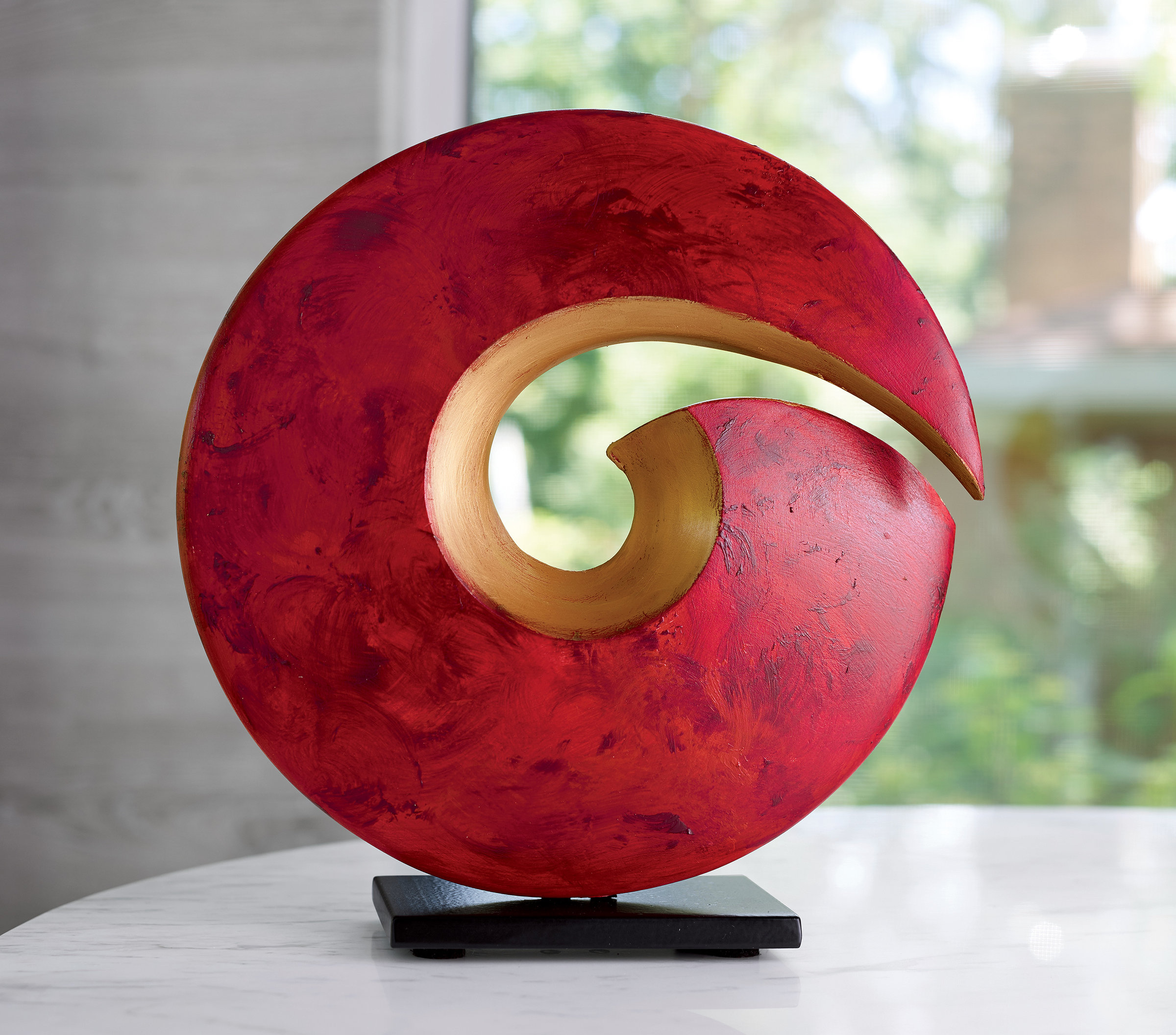 Spiral Sculpture By Cheryl Williams Ceramic Sculpture