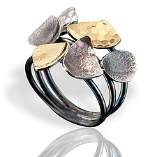 Low Satellite Ring by Lori Gottlieb (Gold & Silver Ring)