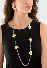 Petals Earrings and Necklace by Judith Neugebauer (Gold & Silver Jewelry)