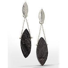 Black Tourmaline Chandelier Earrings by Danielle Miller (Silver & Stone Earrings)