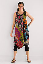 Patched Draped Pocket Dress by Mieko Mintz  (Cotton Kantha Dress)