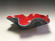 White Optix Flair Bowl by Vaughan Nelson (Ceramic Bowl)