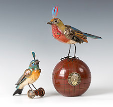 Birds by Jim and Tori Mullan (Wood Sculpture)