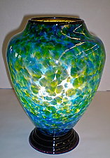 Blue & Green Table Lamp by Curt Brock (Art Glass Table Lamp)