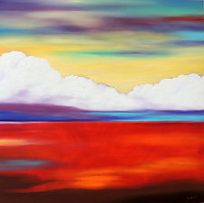Clouds Over Red Land by Mary Johnston (Oil Painting)