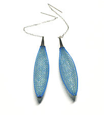 Ovulo Earrings Turquoise by Michal Lando (Nylon Earrings)