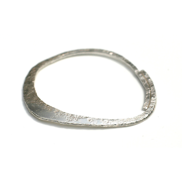 Asymmetric Silver Bangle