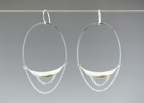 Large Curve Hoop Earrings