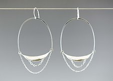 Large Curve Hoop Earrings by Catherine Grisez (Silver Earrings)