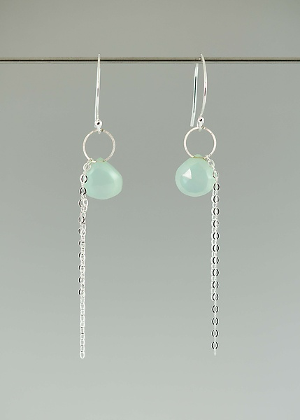 Gem and Chain Earrings