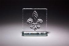 Fleur de Lis Bookend by Casey Hyland (Art Glass Sculpture)
