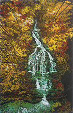 Deep Wood Falls by William Hays (Linocut Print)