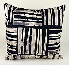Wide Weave Square Pillow by Ayn Hanna (Cotton & Linen Pillow)