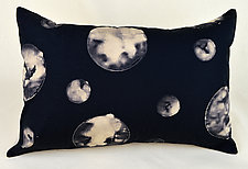 Many Moons Rectangle by Ayn Hanna (Cotton & Linen Pillow)