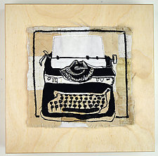 Creative Writer by Ayn Hanna (Fiber Wall Art)