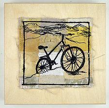 Pineridge Singletrack by Ayn Hanna (Fiber Wall Art)