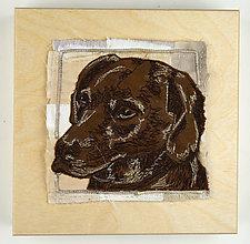 Rescue Dog Mom by Ayn Hanna (Fiber Wall Art)