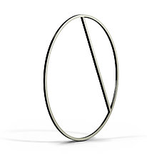 Horizon Bangle by Laura Jaklitsch (Silver Bracelet)