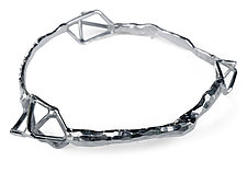 Three Geo Bangle by Aimee Petkus (Silver Bracelet)