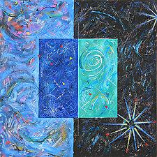 Stargazer 1 by Betty Green (Mixed-Media Wall Art)
