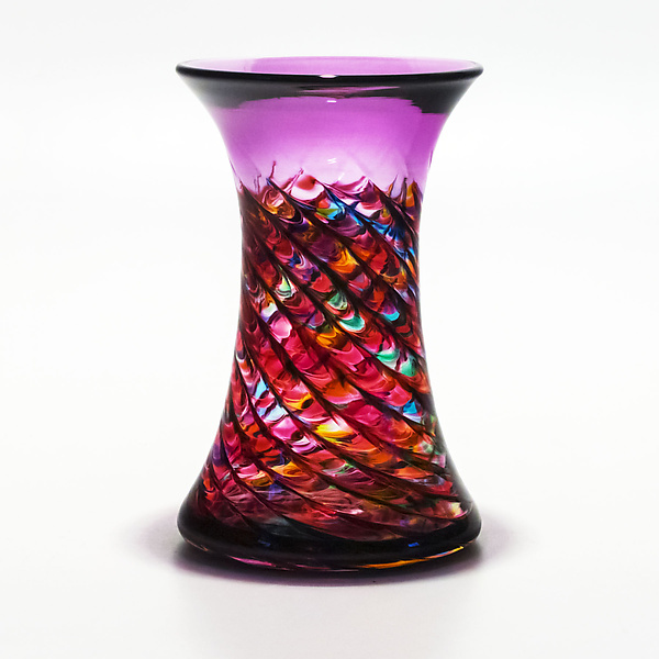 Optic Rib Cooling Tower in Pink Multi with Violet