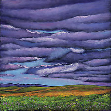 Stormy Skies Over the Prairie by Johnathan  Harris (Giclee Print)