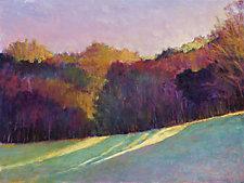 Illuminated Treeline by Ken Elliott (Oil Painting)
