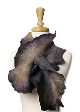 Coral Scarf in Graphite by Jenne Giles  (Silk & Wool Scarf)