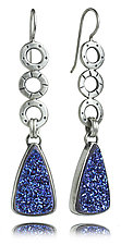 Mini Oscar Earrings with Triangle Drusy by Jodi Brownstein (Silver & Stone Earrings)
