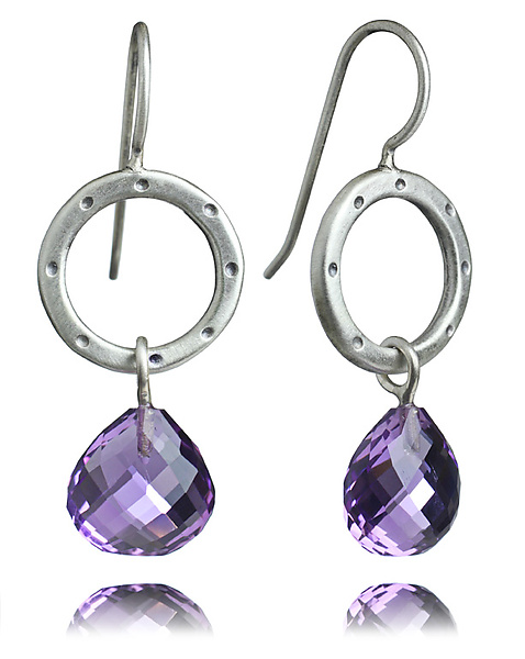 Betty Earrings with Amethyst Briolettes