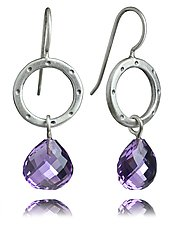 Betty Earrings with Amethyst Briolettes by Jodi Brownstein (Silver & Stone Earrings)