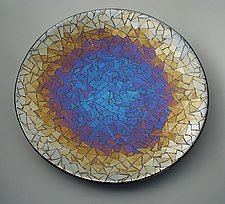 Iridescent Mix II by Sabine  Snykers (Art Glass Platter)