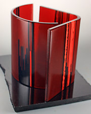 Opposing Paths II by Colleen Gyori (Art Glass Sculpture)